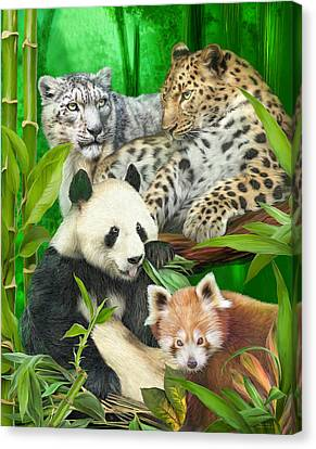 Asia Wild Canvas Print by Carol Cavalaris