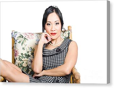 Asian Business Woman Canvas Print by Jorgo Photography - Wall Art Gallery