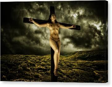 Asian Jesus Crucifix V Canvas Print
