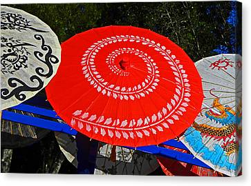 Asian Parasols Canvas Print