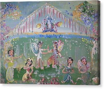Asian Party Fairies Canvas Print by Judith Desrosiers