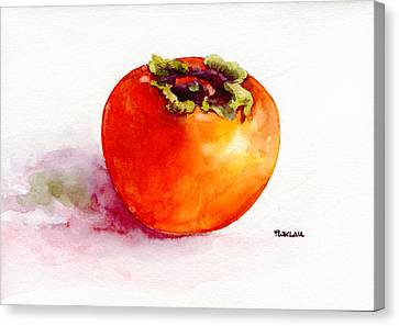 Asian Persimmon Canvas Print by Peter Lau