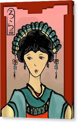 Asian Princess Canvas Print by LD Gonzalez