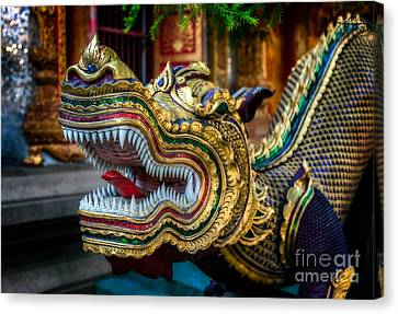 Asian Temple Dragon Canvas Print by Adrian Evans