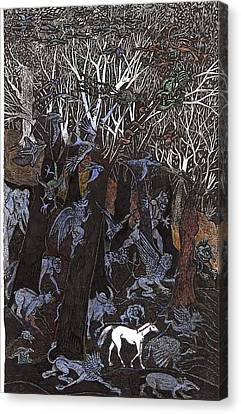 Asil In Shitaki Forest Canvas Print by Al Goldfarb