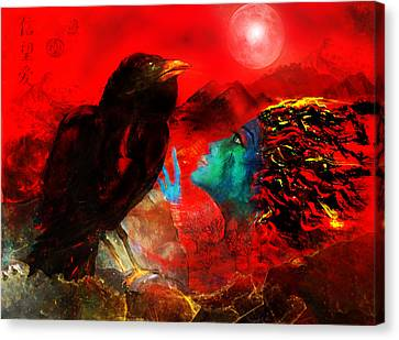 Ask The Raven II Canvas Print by Patricia Motley