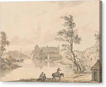 Askeaton Abbey Near Limerick, Ireland On The River Deel Canvas Print by Paul Sandby