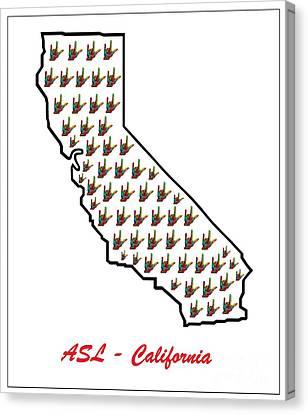 Asl California Canvas Print by Eloise Schneider