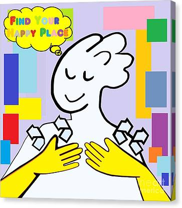 Asl Find Your Happy Place Canvas Print by Eloise Schneider