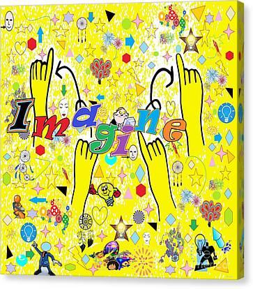 Asl Imagine Canvas Print by Eloise Schneider