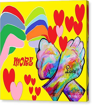 Asl More Love Canvas Print by Eloise Schneider