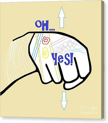 Asl Oh Yes Canvas Print by Eloise Schneider