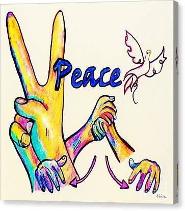 Asl Peace Canvas Print by Eloise Schneider