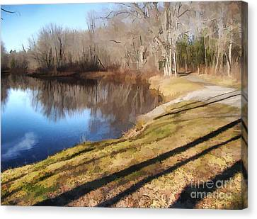 Canvas Print featuring the photograph Aslant by Betsy Zimmerli