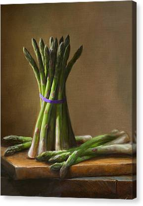Food Canvas Print - Asparagus  by Robert Papp