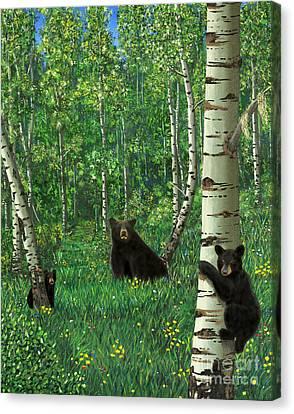 Aspen Bear Nursery Canvas Print
