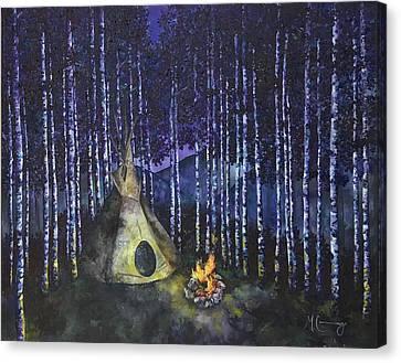 Aspen Camp Canvas Print