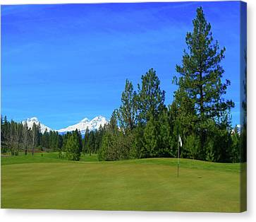 Aspen Lakes Golf Course - Hole #7 Canvas Print by Scott Carda