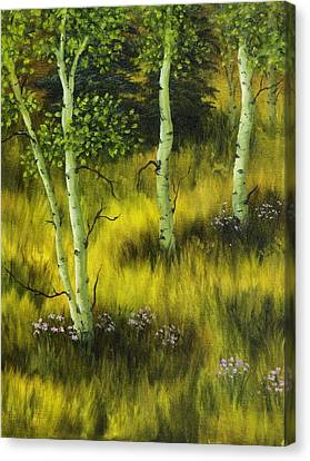Aspen Meadow Canvas Print by Rick Bainbridge