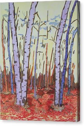 Aspen Trees Canvas Print by Connie Valasco