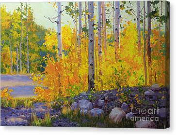 Aspen Vista Canvas Print by Gary Kim