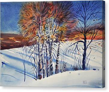 Aspin In The Snow Canvas Print by Donald Maier