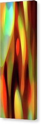 Abstract Movement Canvas Print - Aspiring Light Panoramic Vertical by Amy Vangsgard