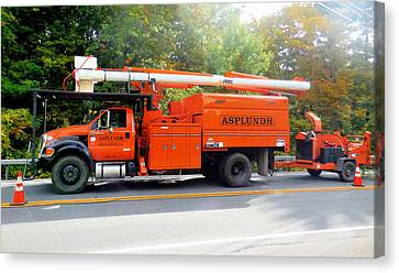 Asplundh Tree Expert Company Trucks Canvas Print