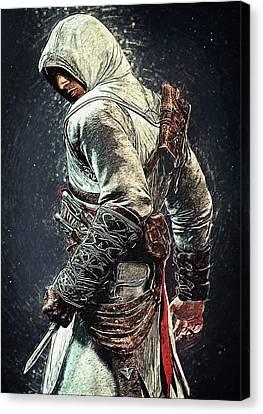 Assassin's Creed - Altair Canvas Print by Taylan Apukovska