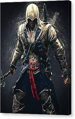 Assassin's Creed - Connor Canvas Print by Taylan Apukovska