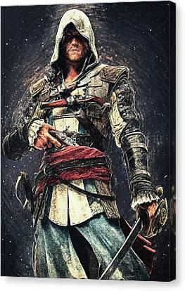 Assassin's Creed - Edward Kenway Canvas Print by Taylan Apukovska