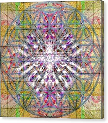 Assent From The Womb In The Flower Tree Of Life Canvas Print by Christopher Pringer