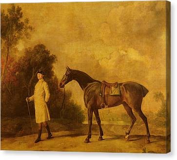 Assheton, First Viscount Curzon, And His Mare Maria Canvas Print