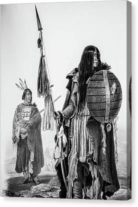 Assiniboin Native American Warriors Canvas Print