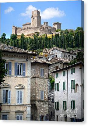 Assisi Italy - Rocca Maggiore - 02 Canvas Print by Gregory Dyer