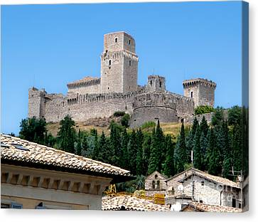 Assisi Italy - Rocca Maggiore Canvas Print by Gregory Dyer