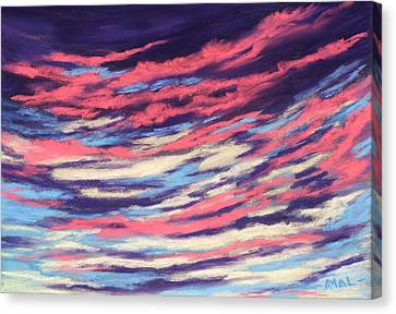 Canvas Print featuring the painting Associations - Sky And Clouds Collection by Anastasiya Malakhova
