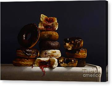 Assorted Donuts Canvas Print by Larry Preston