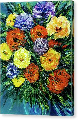 Assorted Flowers #191 Canvas Print by Donald k Hall