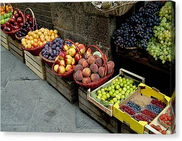 Assorted Fresh Fruits Of Berries Canvas Print by Todd Gipstein