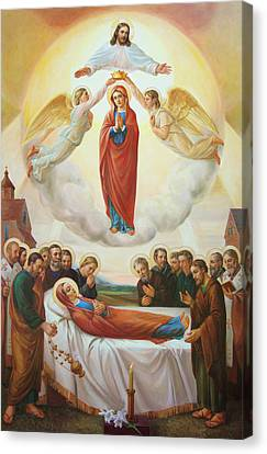 Assumption Of The Blessed Virgin Mary Into Heaven Canvas Print
