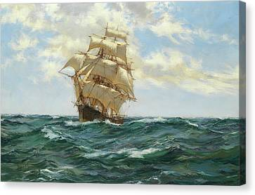Asterion Canvas Print by Montague Dawson