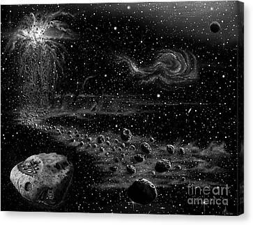 Asteroid Colony Canvas Print by Murphy Elliott