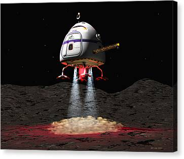 Asteroid Miners Mule Canvas Print by Jim Coe
