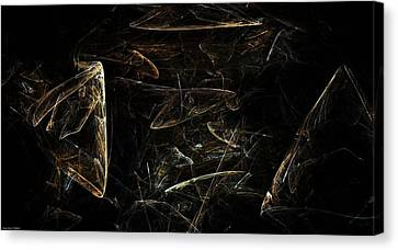 Deep Space Canvas Print - Asteroid Nest by Shan Peck