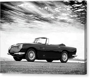 Racing Car Canvas Print - Aston Db5 1964 by Mark Rogan