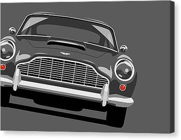 James Bond Canvas Print - Aston Martin Db5 by Michael Tompsett