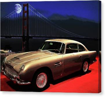 Aston Martin Db5 Canvas Print by Wingsdomain Art and Photography