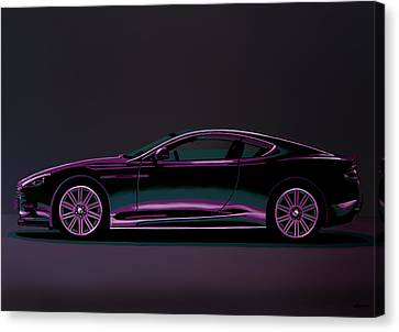 Bmw Vintage Cars Canvas Print - Aston Martin Dbs V12 2007 Painting by Paul Meijering