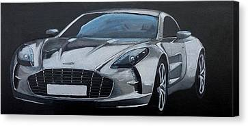 Canvas Print featuring the painting Aston Martin One-77 by Richard Le Page
